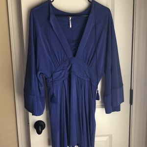 Free people blue suede tunic